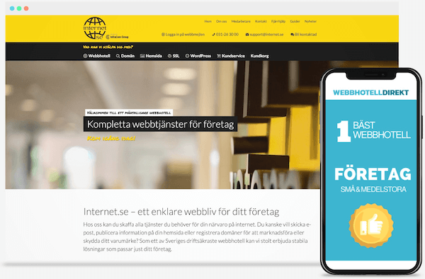 bäst-i-test webbhotell internet.se